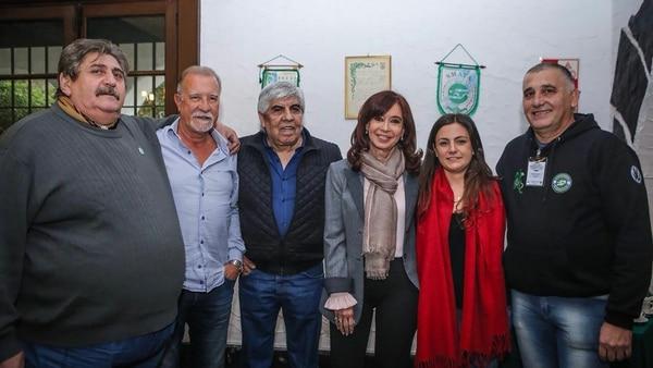 Cristina Kirchner ayer junto a Hugo Moyano en un acto del sindicato de mecánicos SMATA