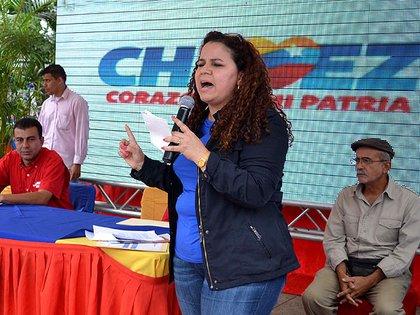 La ex ministra de asuntos penitenciarios del régimen de Nicolás Maduro, Iris Varela