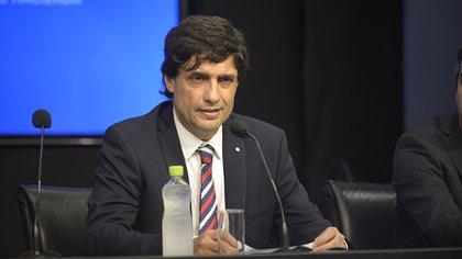 El ministro de Hacienda Hernán Lacunza (Gustavo Gavotti)