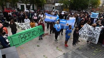 Previo a la marcha, el juez Román Lanzón dictó la prisión preventiva por 60 días a Diego Pablo C.