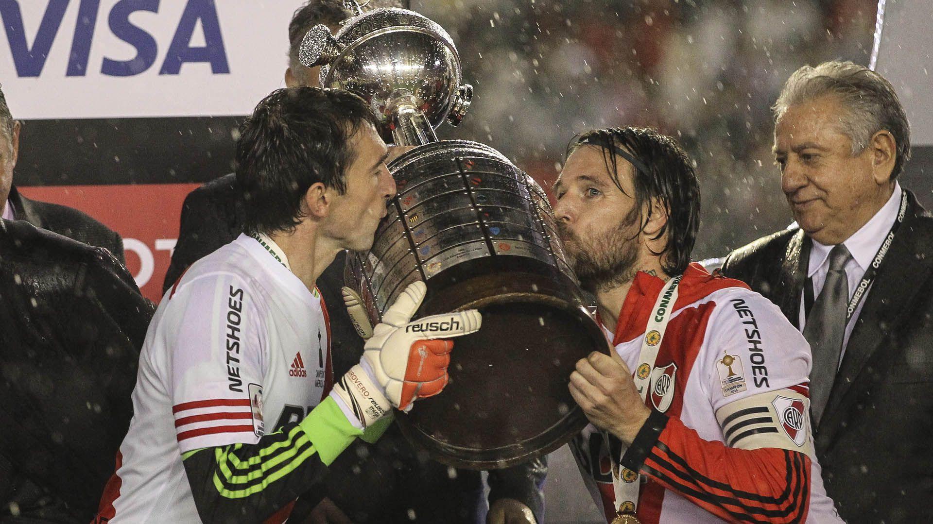 Barovero consiguió cuatro títulos internacionales durante el ciclo Gallardo en River EFE/David Fernández