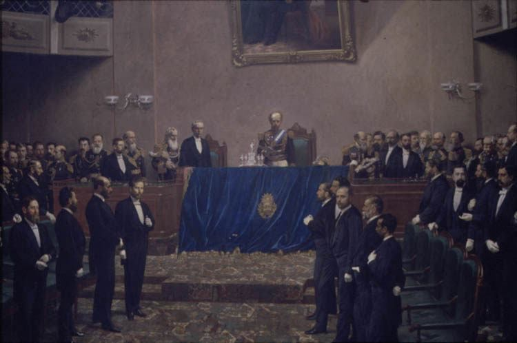 El cuadro pintado por Juan Manuel Blanes, que es posible contemplarlo en el Salón de los Pasos Perdidos, en el Congreso Nacional.