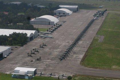La plataforma donde se realizarán las pruebas reportó un avance del 75%, pues también se están levantando 1,500 viviendas para uso militar (Foto: Guillermo Perea/Cuartoscuro)