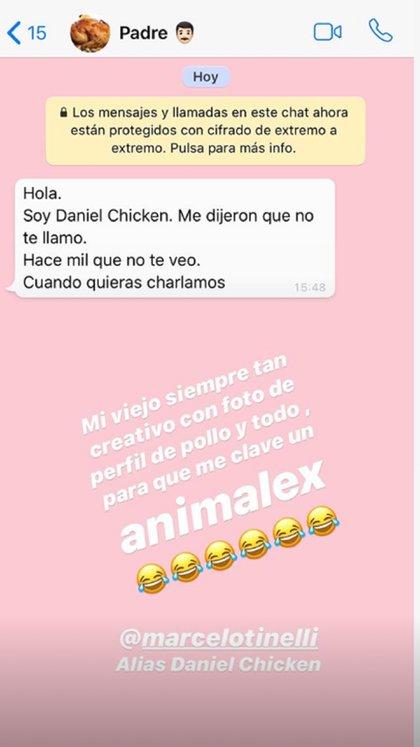 El mensaje que Marcelo Tinelli le envió a su hija Candelaria