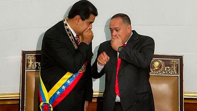 Nicolás Maduro y Diosdado Cabello (EFE)