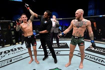 Dustin Poirier venció por KO a McGregor en su último enfrentamiento (Usa Today Sports)
