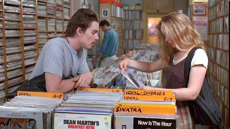 Eligiendo discos en