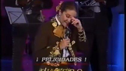 En esta ocasión, el público la felicitó por su cumpleaños (Foto: Captura de pantalla)