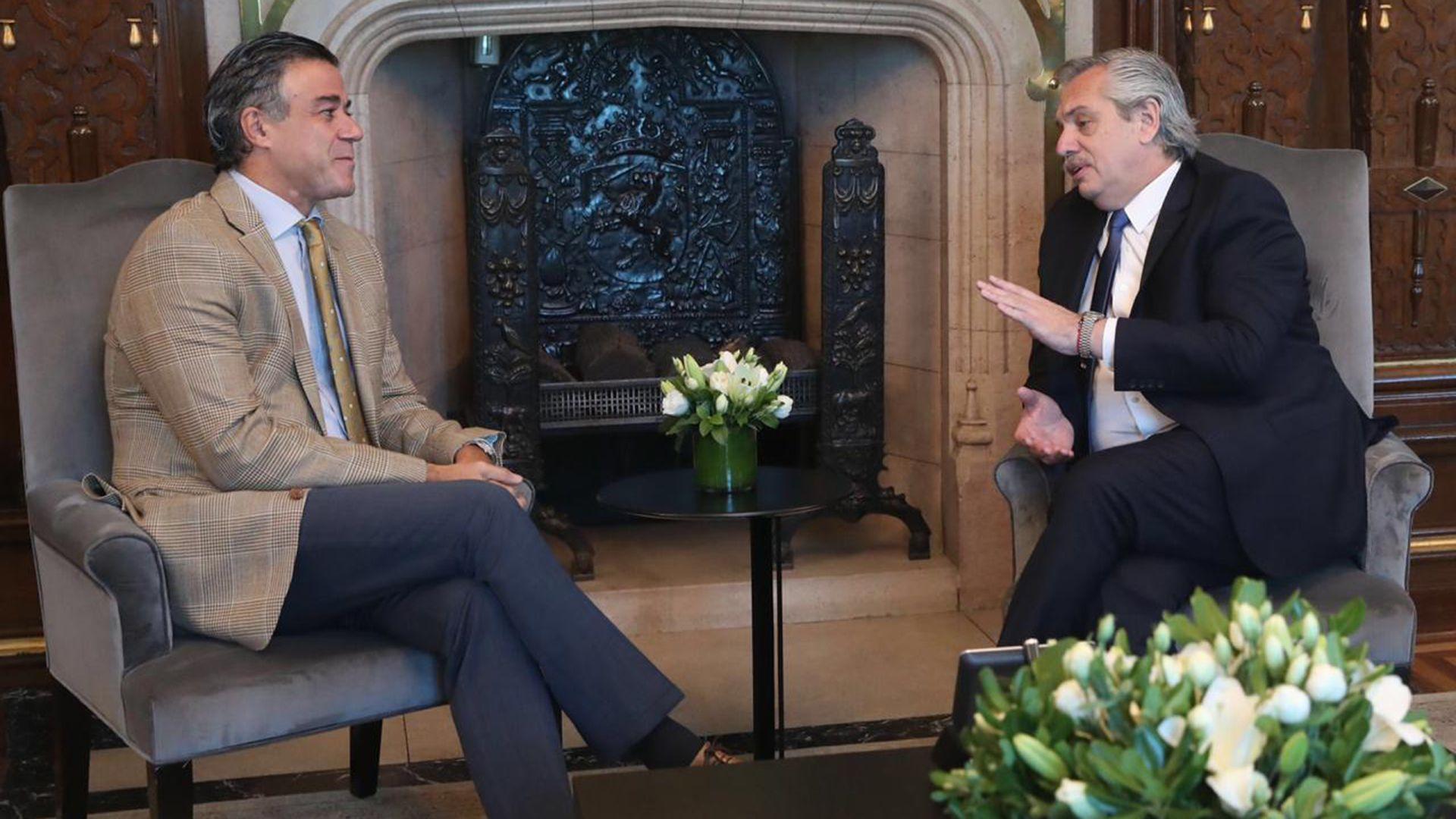 El presidente Alberto Fernández junto al juez federal Daniel Rafecas.