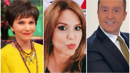 Pati Chapoy, María Celeste Arrarás y  Daniel Bisogno (Instagram)