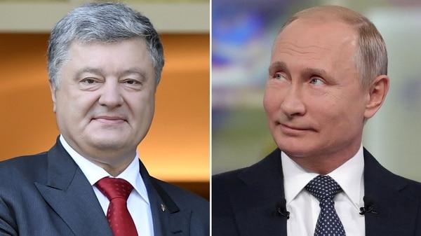 Petro Poroshenko y Vladimir Putin