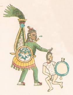 aztecas vs otomíes (Foto: Twitter@Cuauhtemoc_1521)