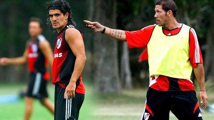 Ortega y Simeone tuvieron una conflictiva relación en River