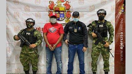 Captura de Ceferino Rivas, alias Chepe. Foto: Fiscalía General de la Nación.