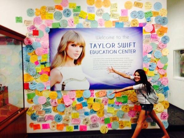 Katy Winter, en el Centro de Educación Taylor Swift