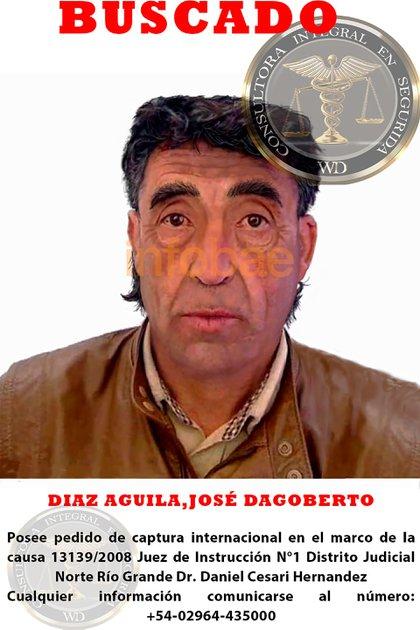 Una de las cuatro imágenes con la que buscarán a Díaz Águila