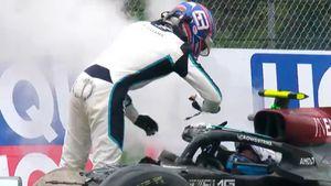 Violento choque, gestos provocativos y tenso cruce: la pelea entre Bottas y Russell que paralizó a la Fórmula 1