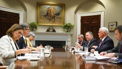 Las reuniones bilaterales entre México y EEUU en la Casa Blanca (Foto: Especial)