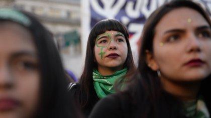 Estudiantazo a favor del aborto en el Congreso, julio de 2018 (Foto: Julieta Ferrario)