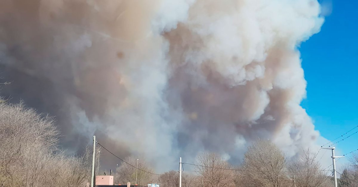 Fierce fire in the mountains of Córdoba: there are houses affected and evacuated