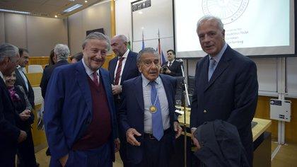 Cristiano Rattazzi, Eurnekian y Enrique Nosiglia