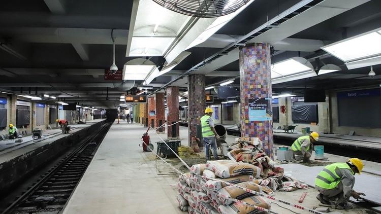 En la estación de Retiro se realizaron diferentes obras de remodelación
