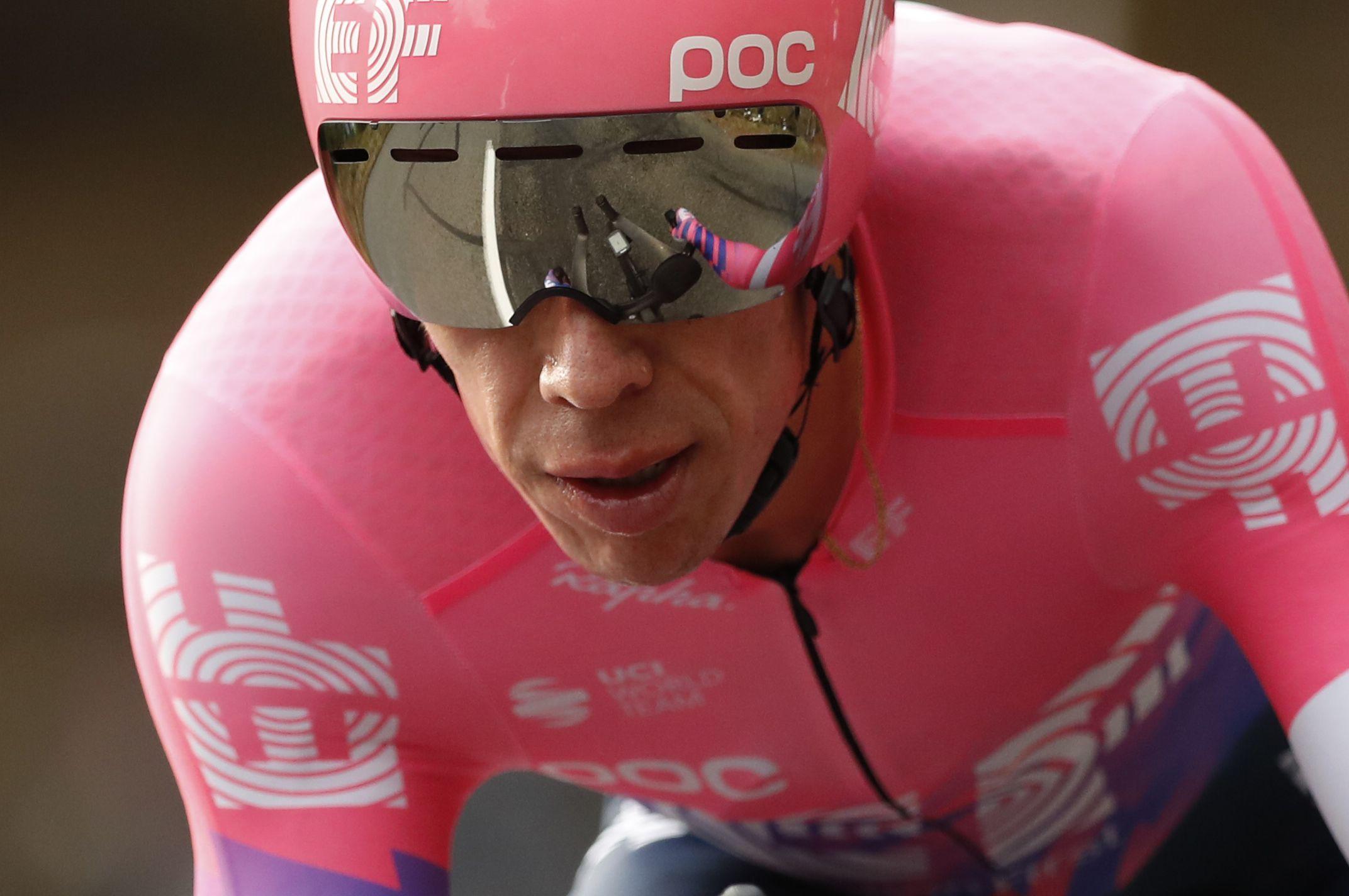 EF Pro Cycling rider Rigoberto Uran en Vuelta a Suiza 2021 REUTERS/Stephane Mahe