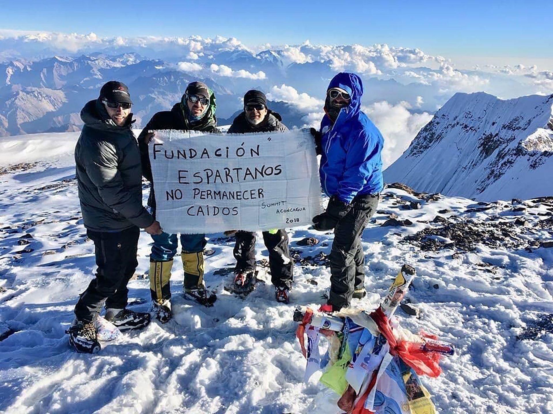 Baraja escaló el Aconcagua y el año que viene apuesta a subir al Kilimanyaro (5.893 metros), en África