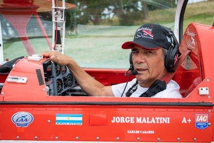 Malatini fue piloto internacional de Aerolíneas Argentinas entre 1980 y 2009 (Diego Medina)