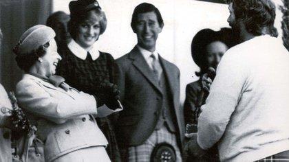 Septiembre de 1982. La reina, el príncipe Carlos y la princesa Diana
