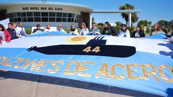 Las familias del ARA San Juan no descartan realizar medidas de fuerza para reclamar que el submarino sea rescatado