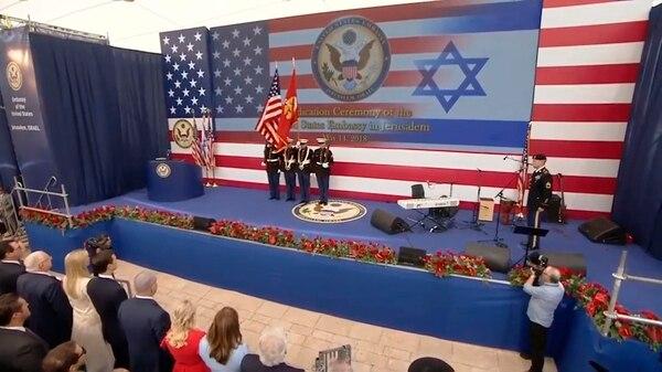 El inicio de la ceremonia en Jerusalén