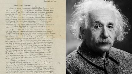 """""""La carta de Dios"""", la más famosa misiva de Albert Einstein"""
