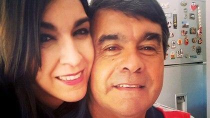Florencia junto a su papá, el Tata Brown (Facebook)