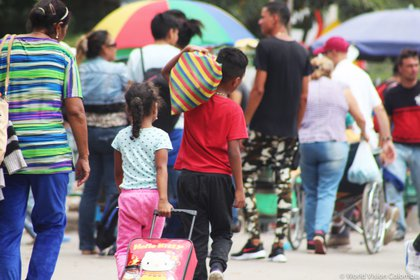 23/04/2019 Migrantes venezolanos llegan a Colombia