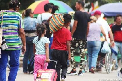 Migrantes venezolanos en Colombia (WORLD VISION/Europa Press)
