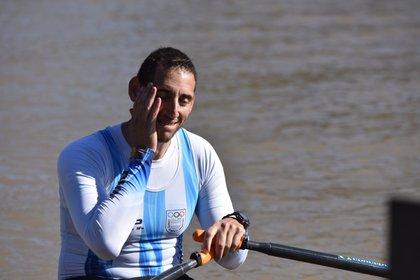 Ariel Suárez disfrutó de su entrenamiento (Infobae)