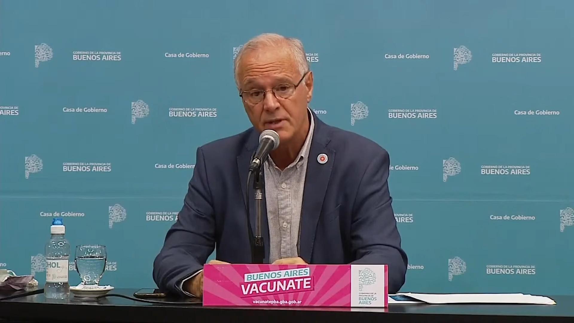 Conferencia de prensa de Daniel Gollán
