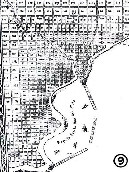Un plano de Mar del Plata de 1873