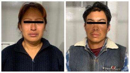 Giovana N y Mario Alberto N permanecerán al menos cuatro meses en prisión en lo que se cierra la investigación (Foto: FGJEM)