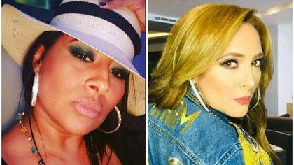 Desde agosto de 2019 comenzó el intercambio público de ataques entre ambas cantantes (Twitter @lanegradeoroofi e IG: myriammontecruz_)