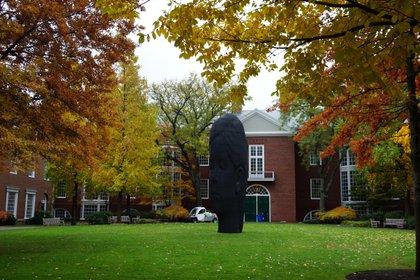 En el Aldrich Hall, precedido por una escultura del catalán Plensa, estudian los alumnos del primer año del MBA.
