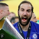 Soccer Football - Europa League Final - Chelsea v Arsenal - Baku Olympic Stadium, Baku, Azerbaijan - May 29, 2019 Chelsea's Gonzalo Higuain celebrates winning the Europa League with the trophy REUTERS/Phil Noble TPX IMAGES OF THE DAY
