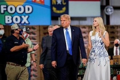 Donald e Ivanka Trump. Foto: REUTERS/Carlos Barria