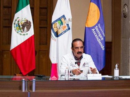 El secretario de Salud de Nuevo León, Manuel de la O Cavazos, aseguró que se harán protocolo de seguridad (Foto: Secretaría de Salud Nuevo León)