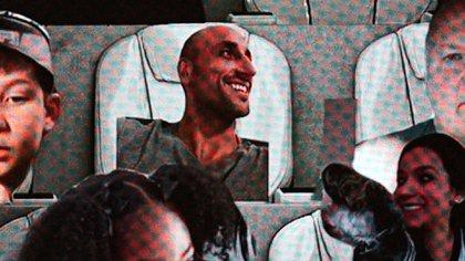 La foto de Emanuel Ginóbili apareció durante el último partido de San Antonio Spurs (@spurs)