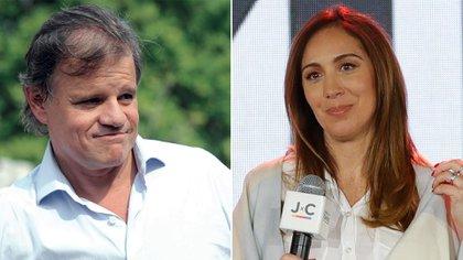 Quique Sacco y María Eugenia Vidal.