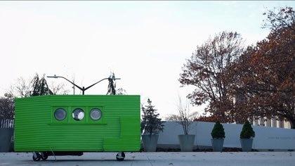 La casa tiene 2,3 metros cuadrados de superficie y está ubicada en Boston (Estados Unidos)