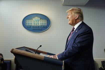 El presidente de Estados Unidos, Donald Trump, abandona la imagen.  EFE / EPA / Chris Clebonis / Archivo