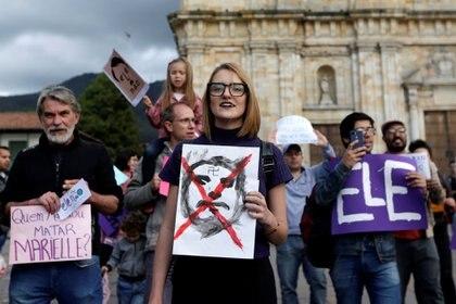En Bogotá, mujeres colombianas también acompañaron el rechazo a Bolsonaro
